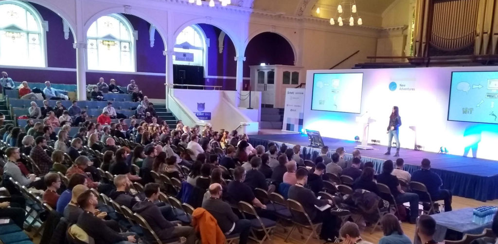 Jess White talking at New Adventures 2019.
